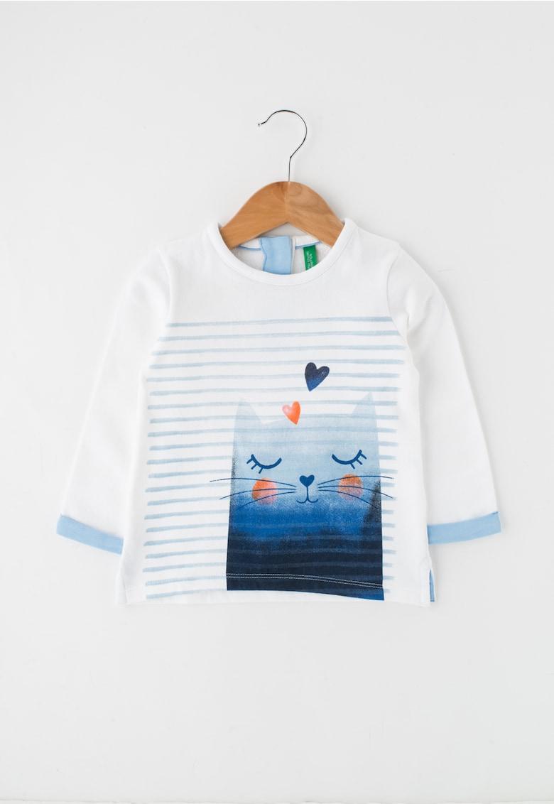 Bluza alb si albastru cu desen thumbnail