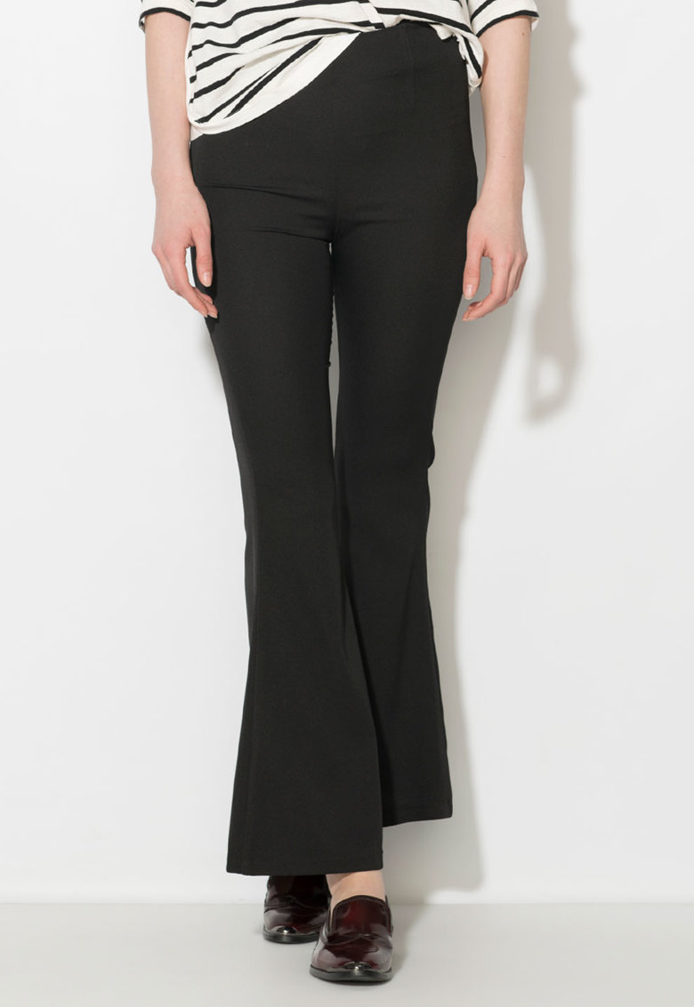 Zee Lane Collection Pantaloni negri evazati