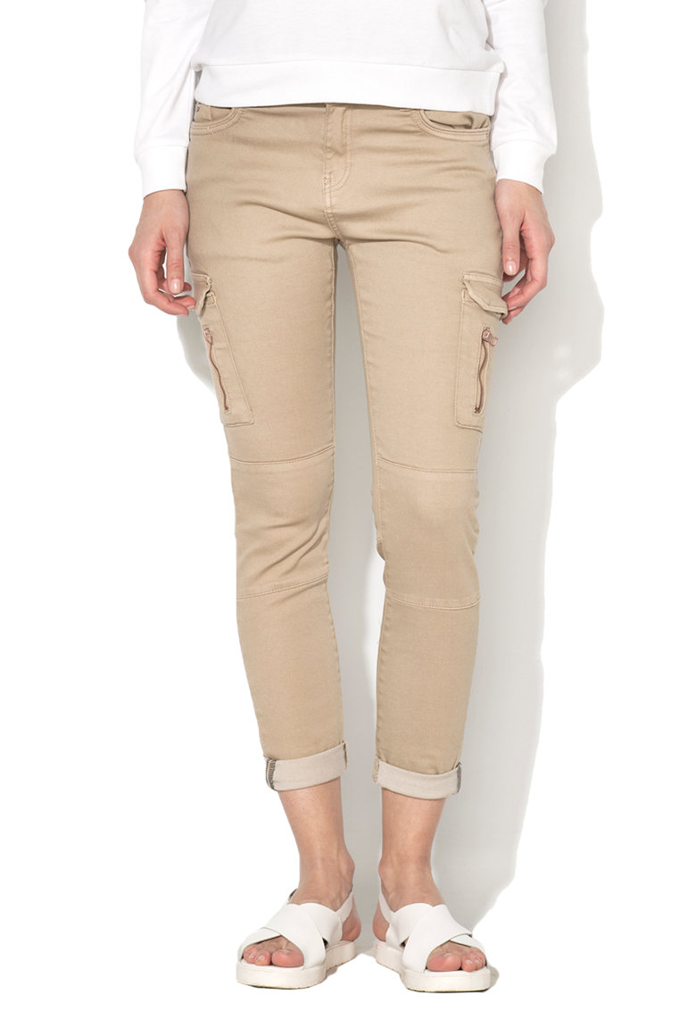 Pantaloni cargo bej
