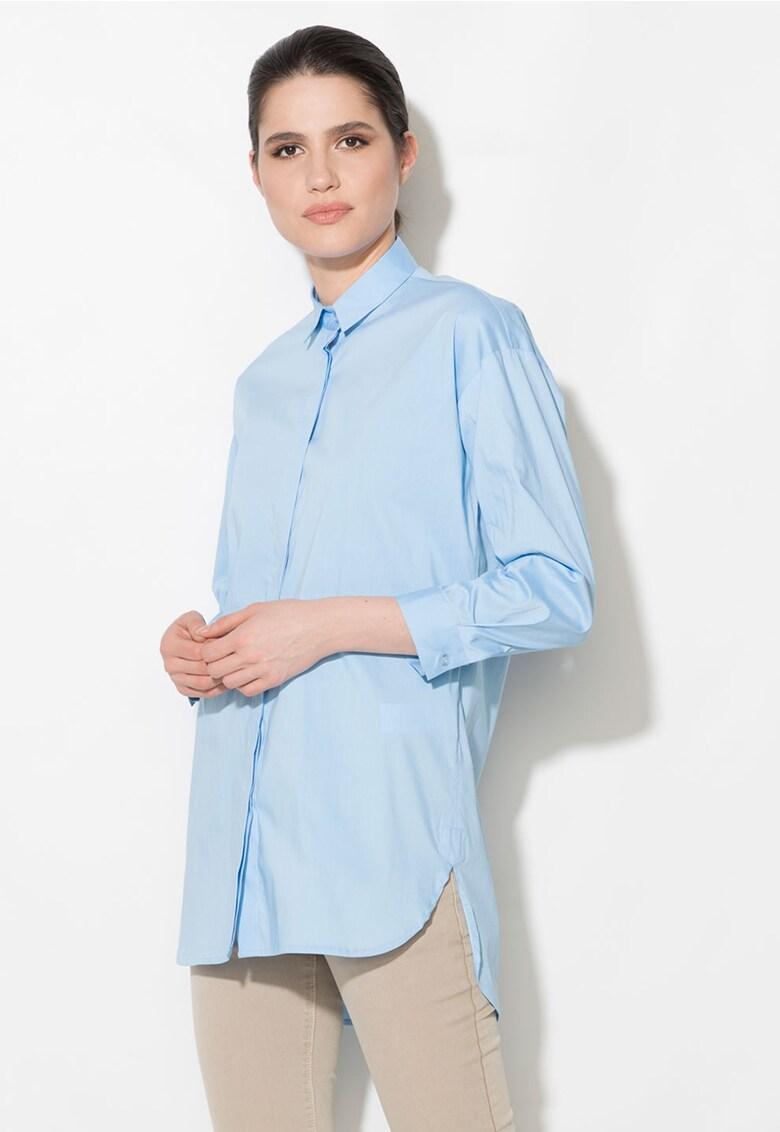 Camasa lunga albastru azur thumbnail