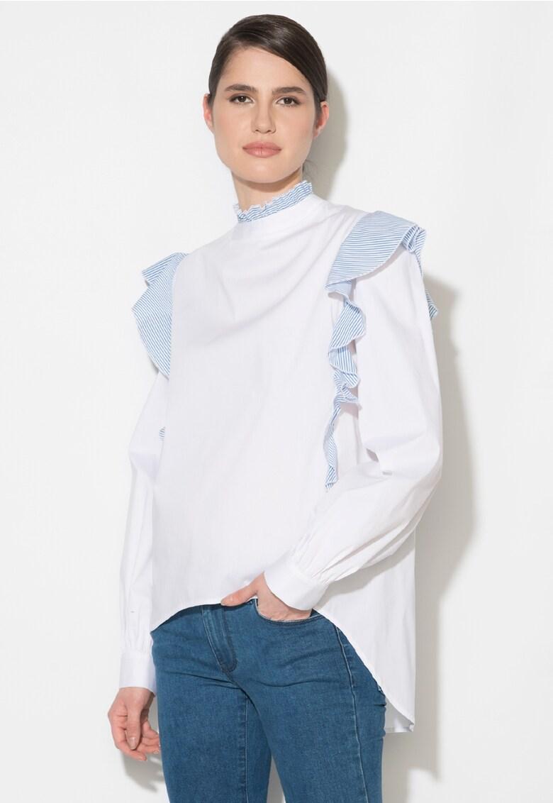 Bluza cu detalii cu volane thumbnail