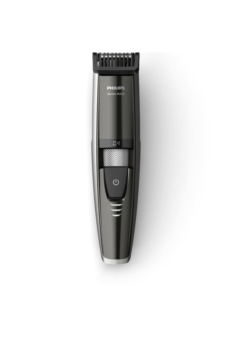 Masina de tuns barba  BT9297/15 – Lame 100% metal – Ghidaj Laser – 0.4 – 7 mm – 17 Trepte – Rezistent la apa – LED – Negru/Argintiu Philips