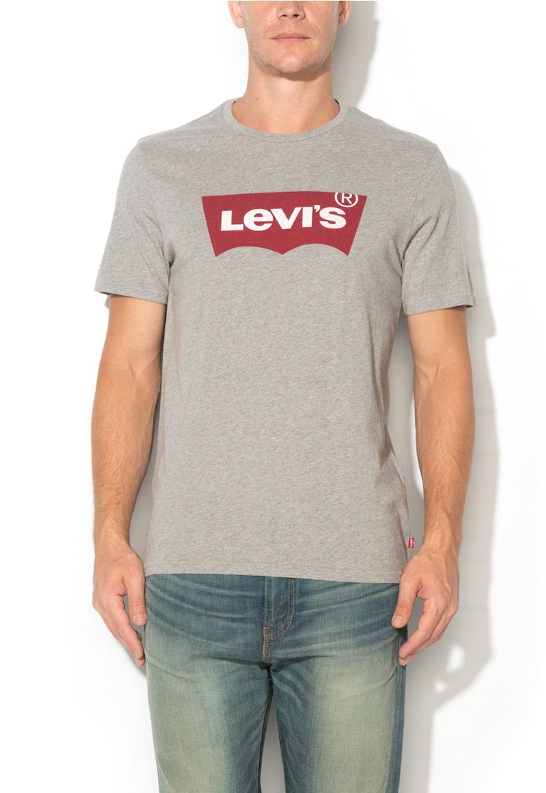 Levis Tricou gri melange cu imprimeu logo