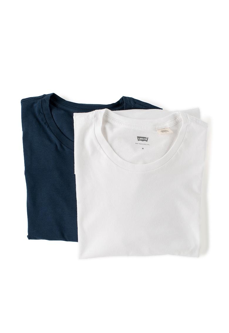 Set de tricouri slim fit alb cu bleumarin – 2 piese Levis