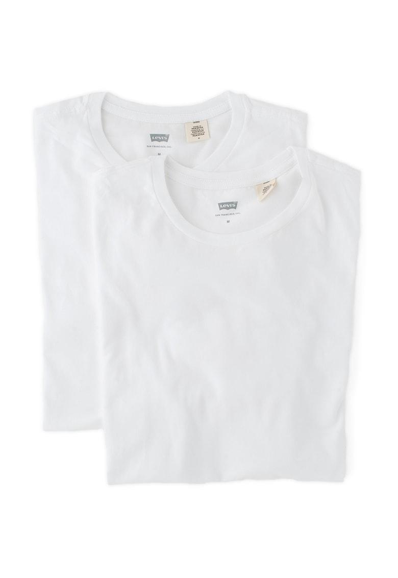 Set de tricouri albe slim fit – 2 piese de la Levis