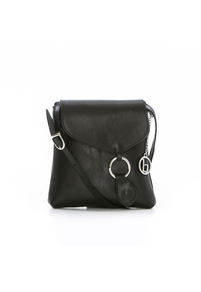 Geanta neagra - de Dama - din piele naturala produsa in Italia WB17002 BLACK (10)