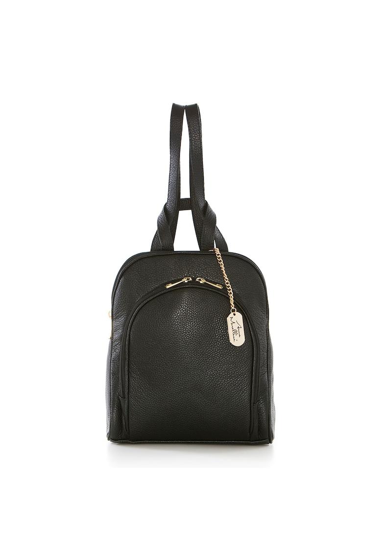 Rucsac negru - de Dama - din piele naturala produsa in Italia WB113230-BLACK (10)
