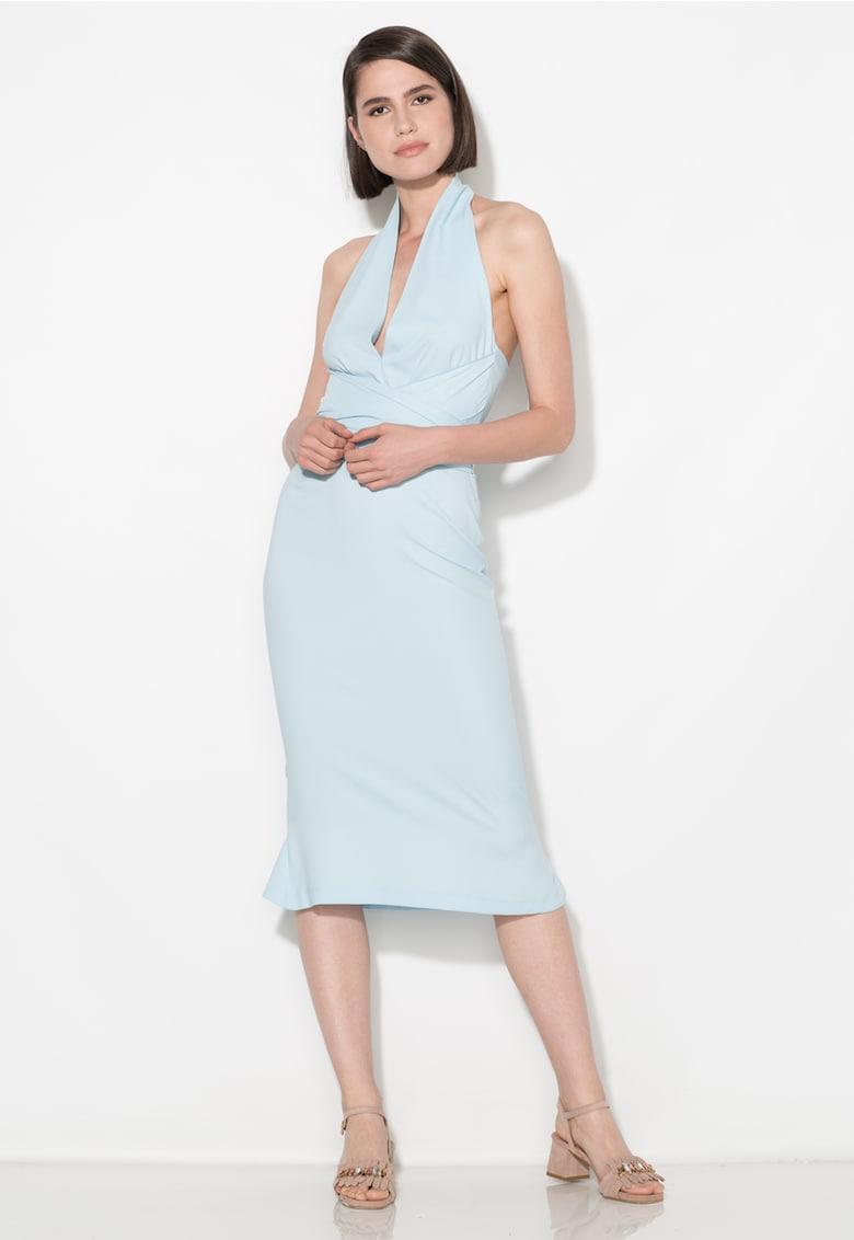 Zee Lane Collection Rochie bleu cu decolteu halter