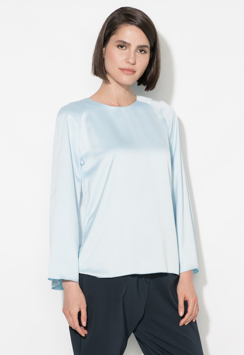 Zee Lane Collection Bluza bleu cu maneci evazate