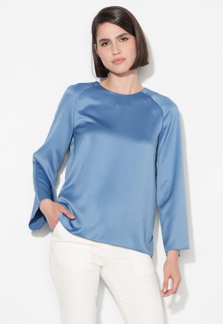 Zee Lane Collection Bluza albastra cu maneci evazate