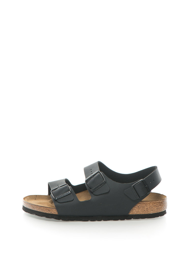 Sandale negre cu calapod clasic Milano