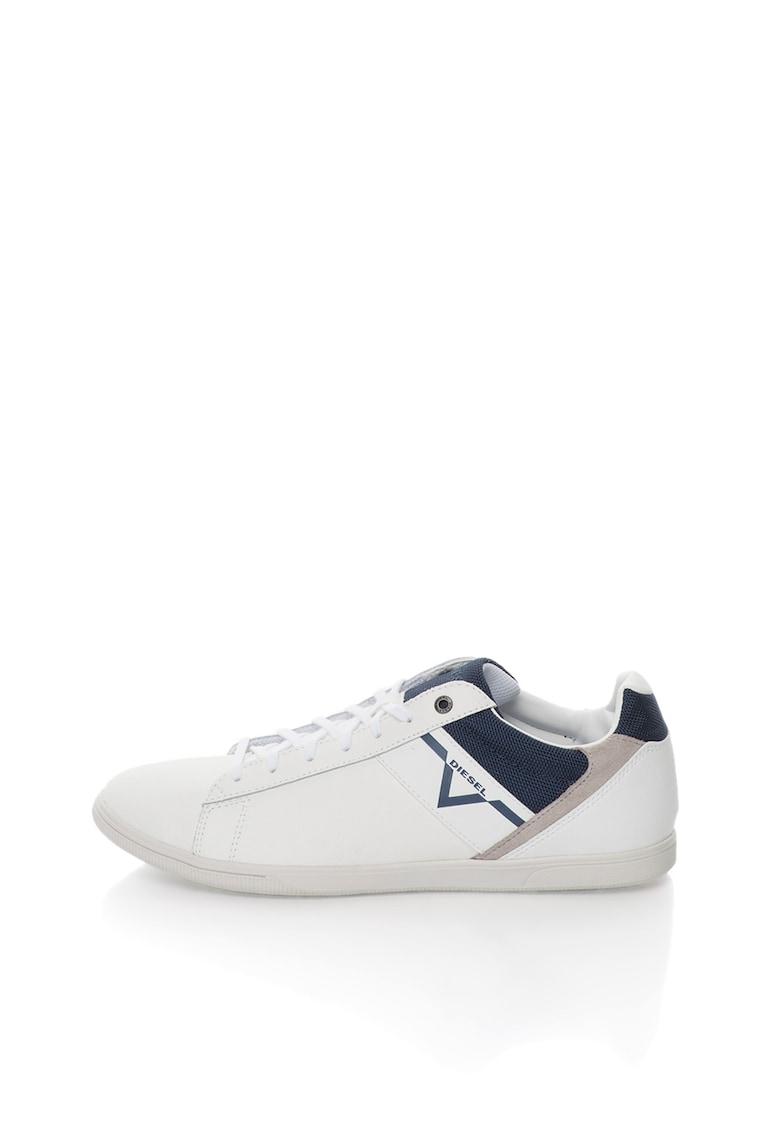 Pantofi sport albi cu garnituri albastre si gri Judzy thumbnail