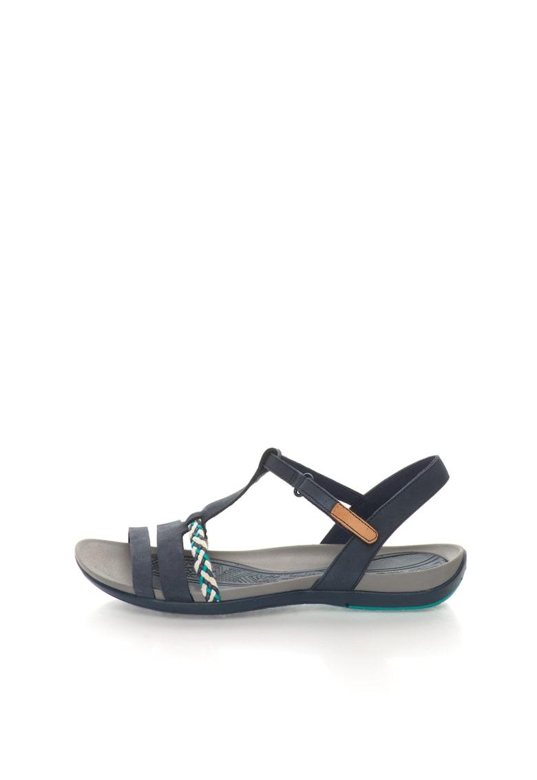 Sandale bleumarin de piele Tealite Grace