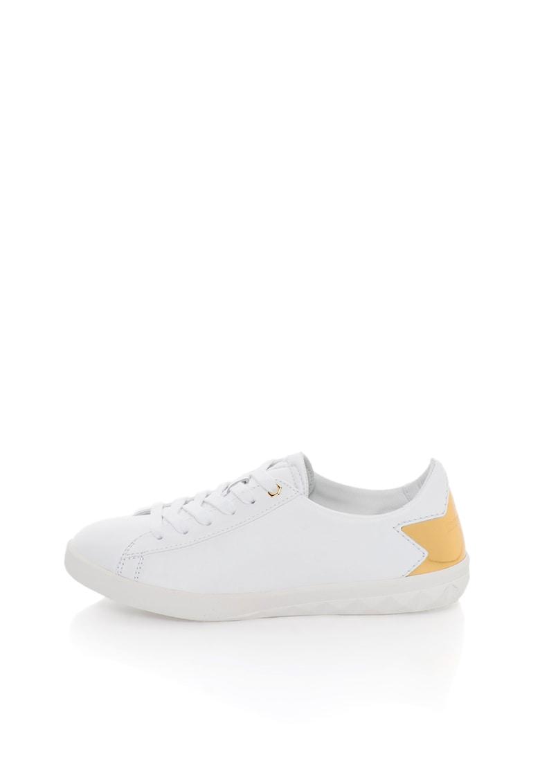 Pantofi sport de piele cu garnituri aurii S-Olstice