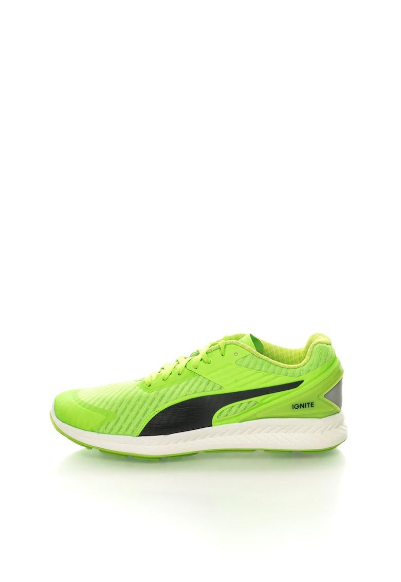 Pantofi verde neon cu negru pentru alergare Ignite