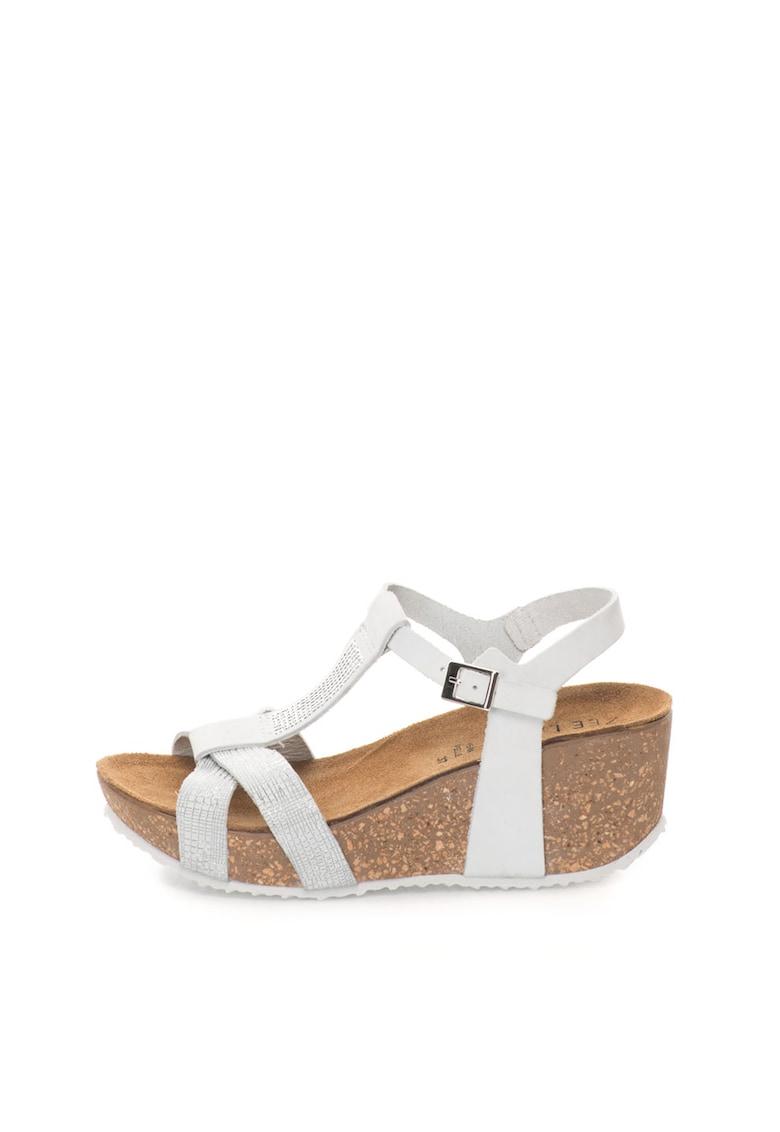 Sandale wedge de piele nabuc thumbnail