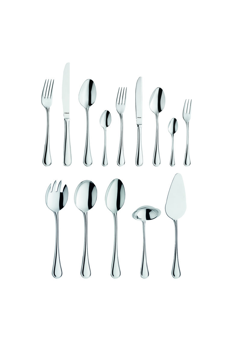Set tacamuri 60 piese in gift box - model Fleur - inox 18/10 - 3 mm