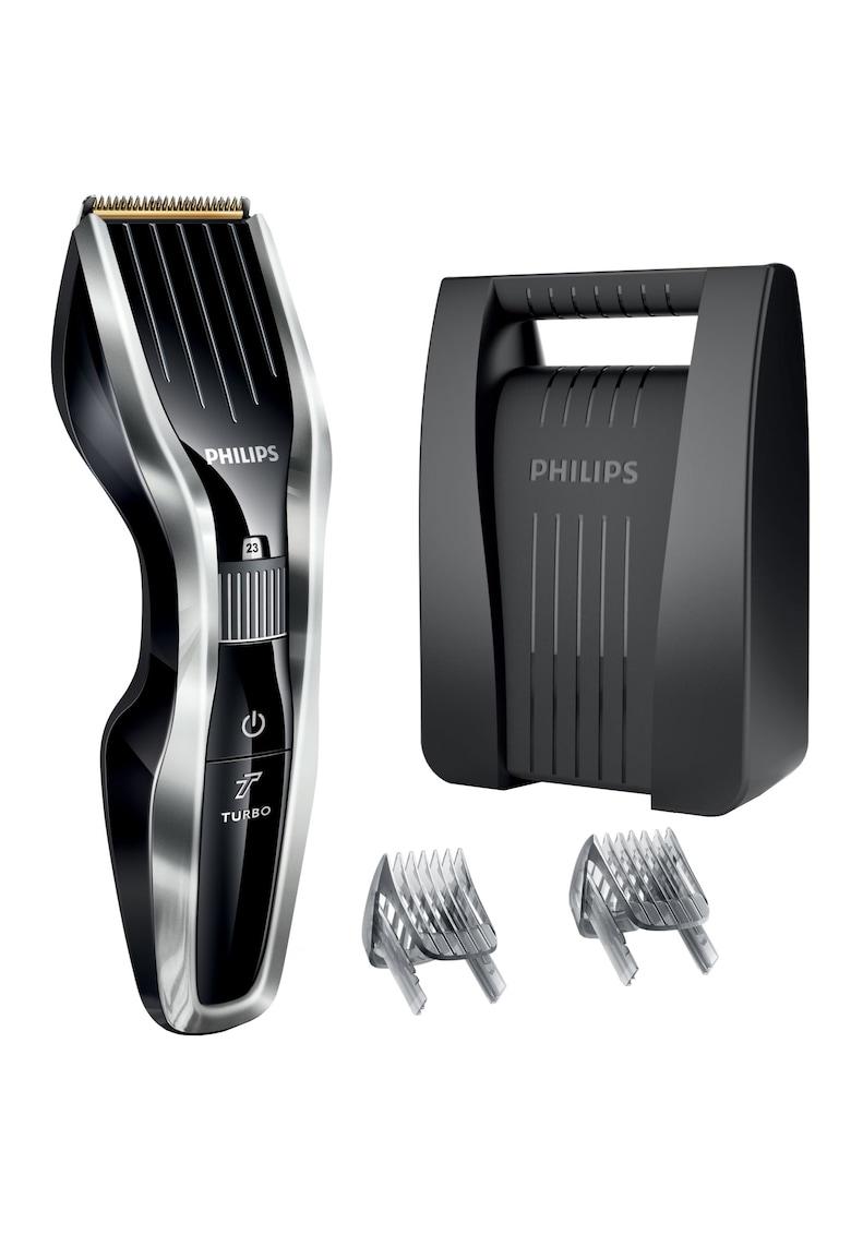 Aparat de tuns  HC5450/80 – Acumulator – 0.5-23 mm – 24 Trepte – Lame din titan – Pieptene pentru barba – Negru/Argintiu de la Philips