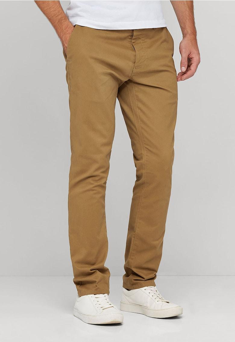 Pantaloni chino maro camel