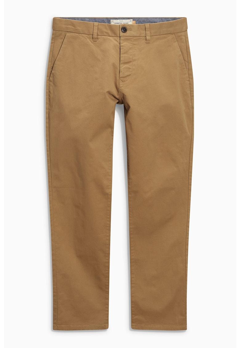 Pantaloni chino cu croiala dreapta imagine promotie