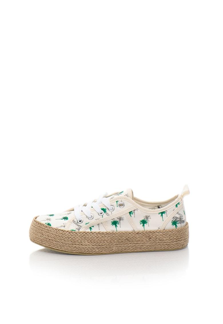 Pantofi sport flatform tip espadrile albi imagine fashiondays.ro