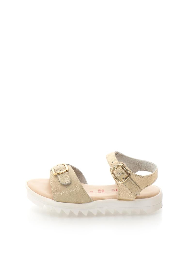 Sandale aurii de piele cu talpa aderenta Aurora imagine fashiondays.ro Zee Lane