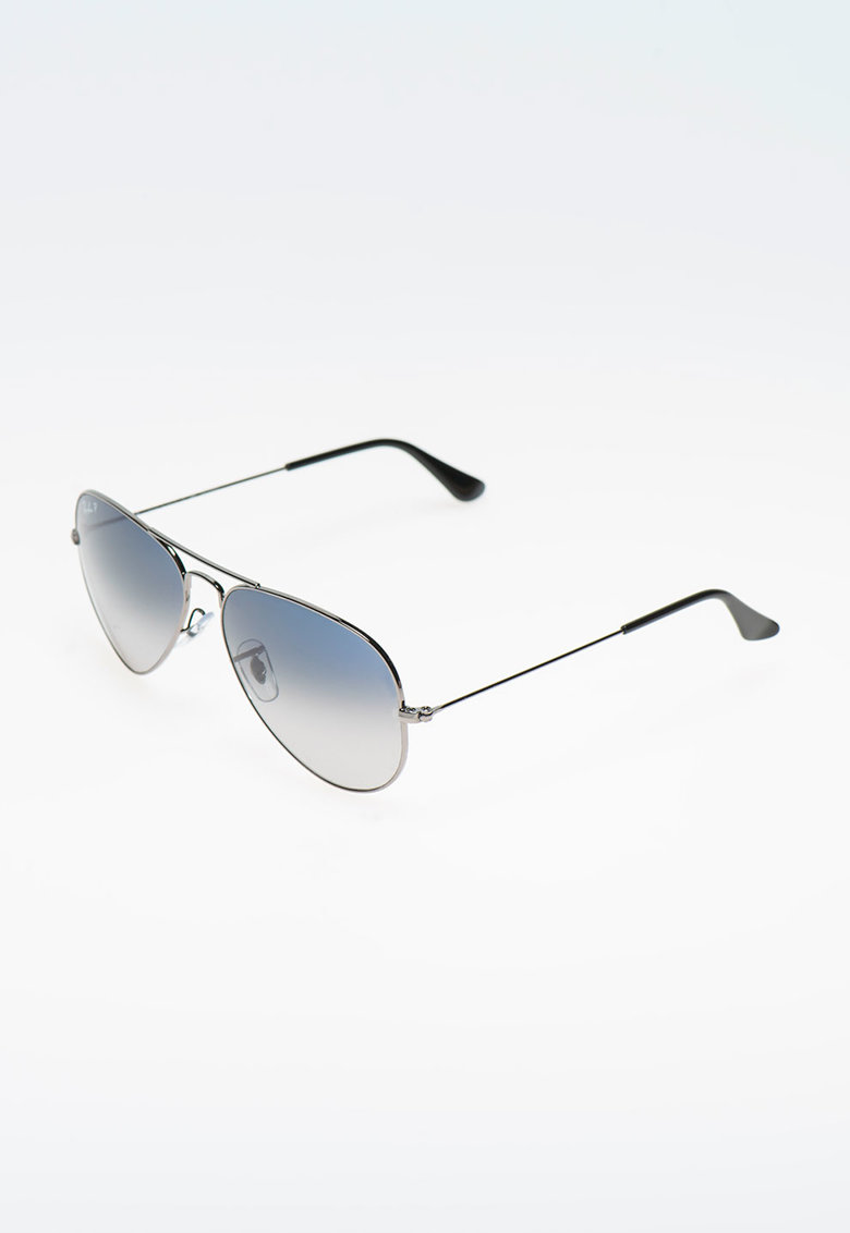 Ochelari de soare argintiu inchis polarizati imagine fashiondays.ro Ray-Ban