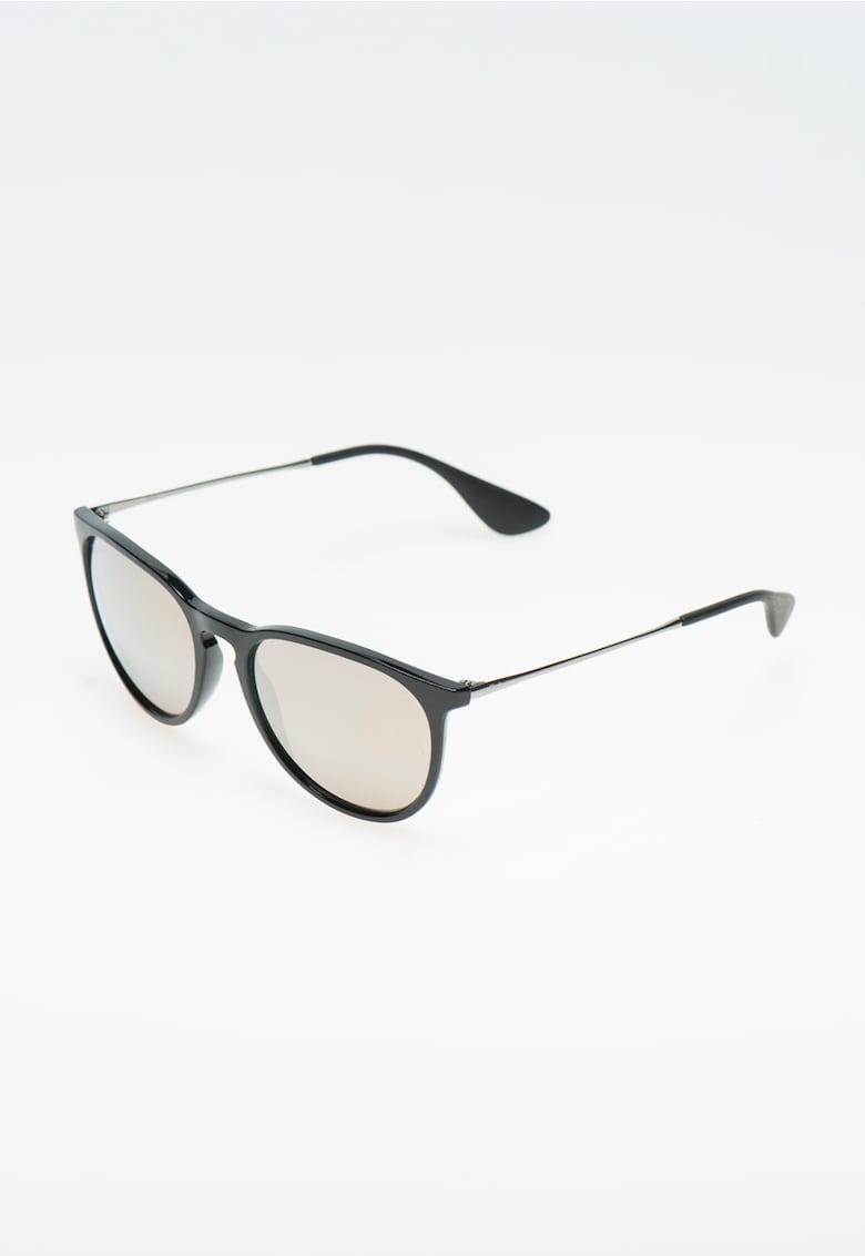 Ochelari de soare negru cu argintiu si lentile oglinda Ray-Ban