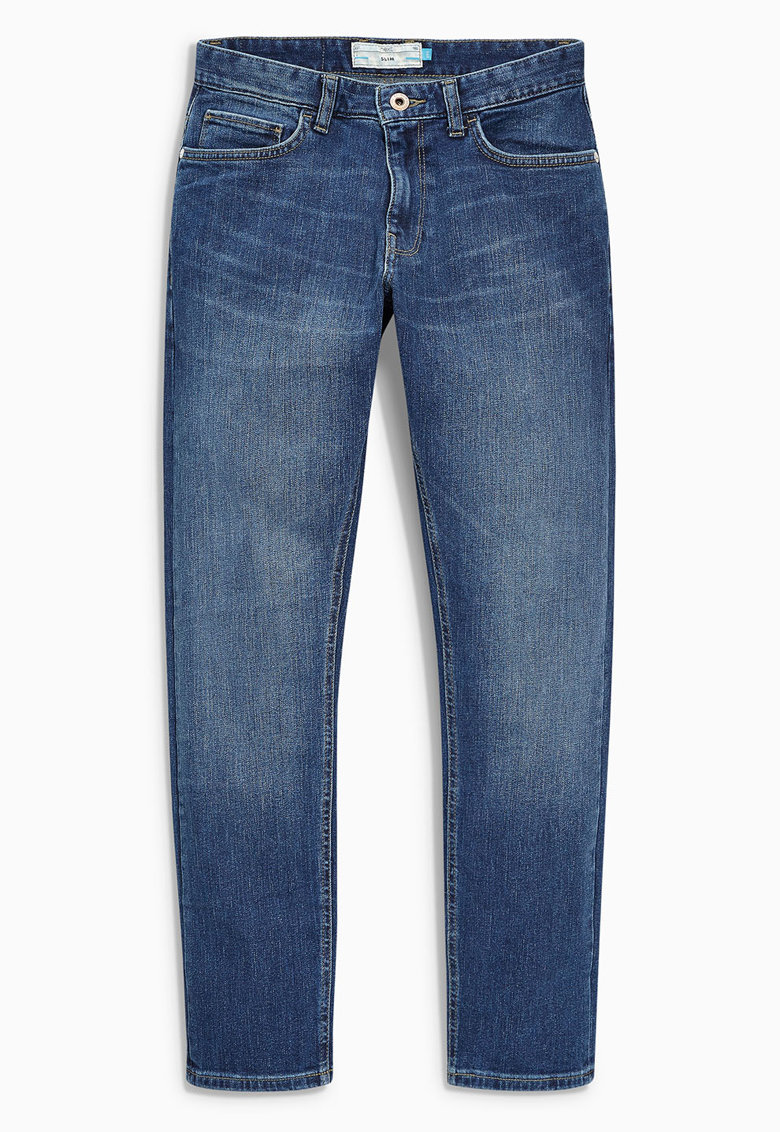 Jeansi slim fit bleu