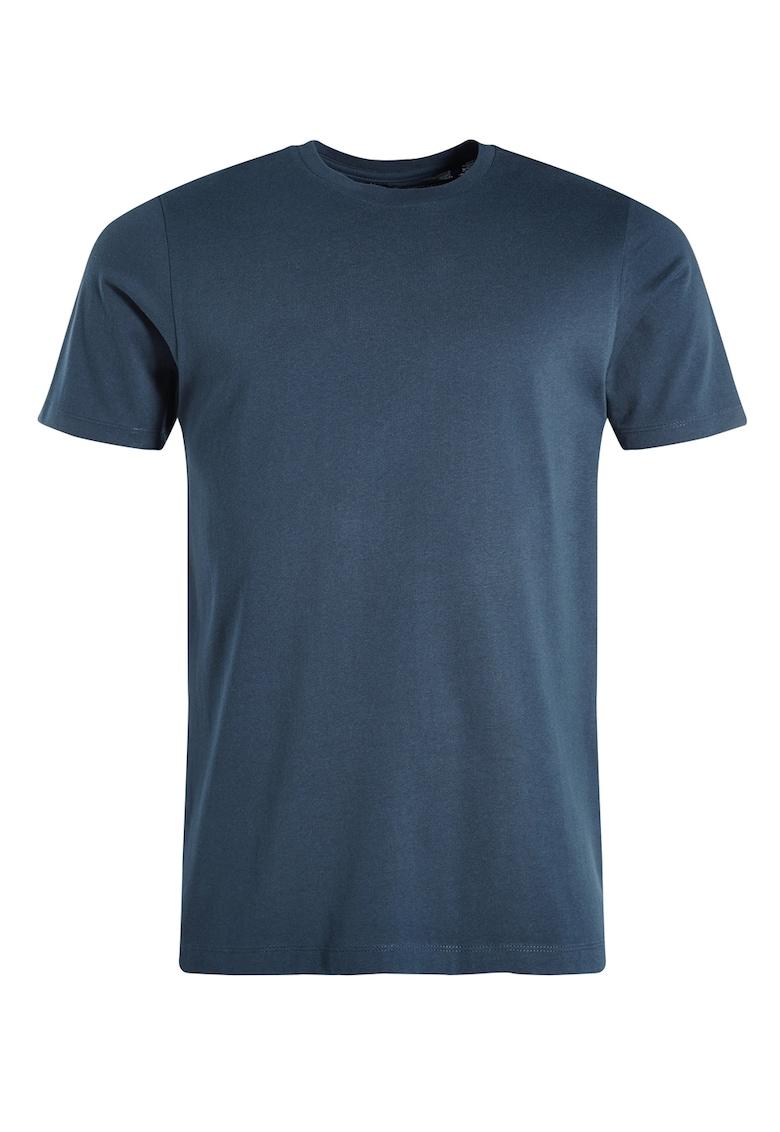 Tricou regular fit bleumarin cu decolteu la baza gatului NEXT