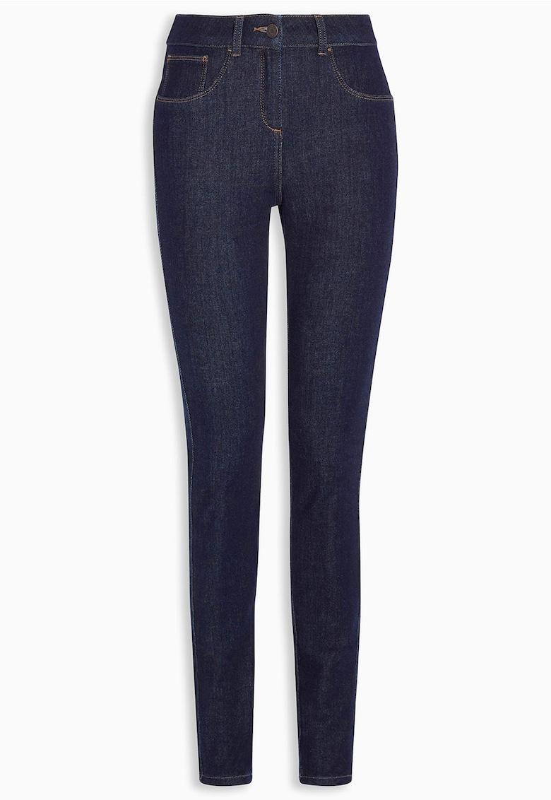 Jeansi albastru inchis super skinny fit 360°