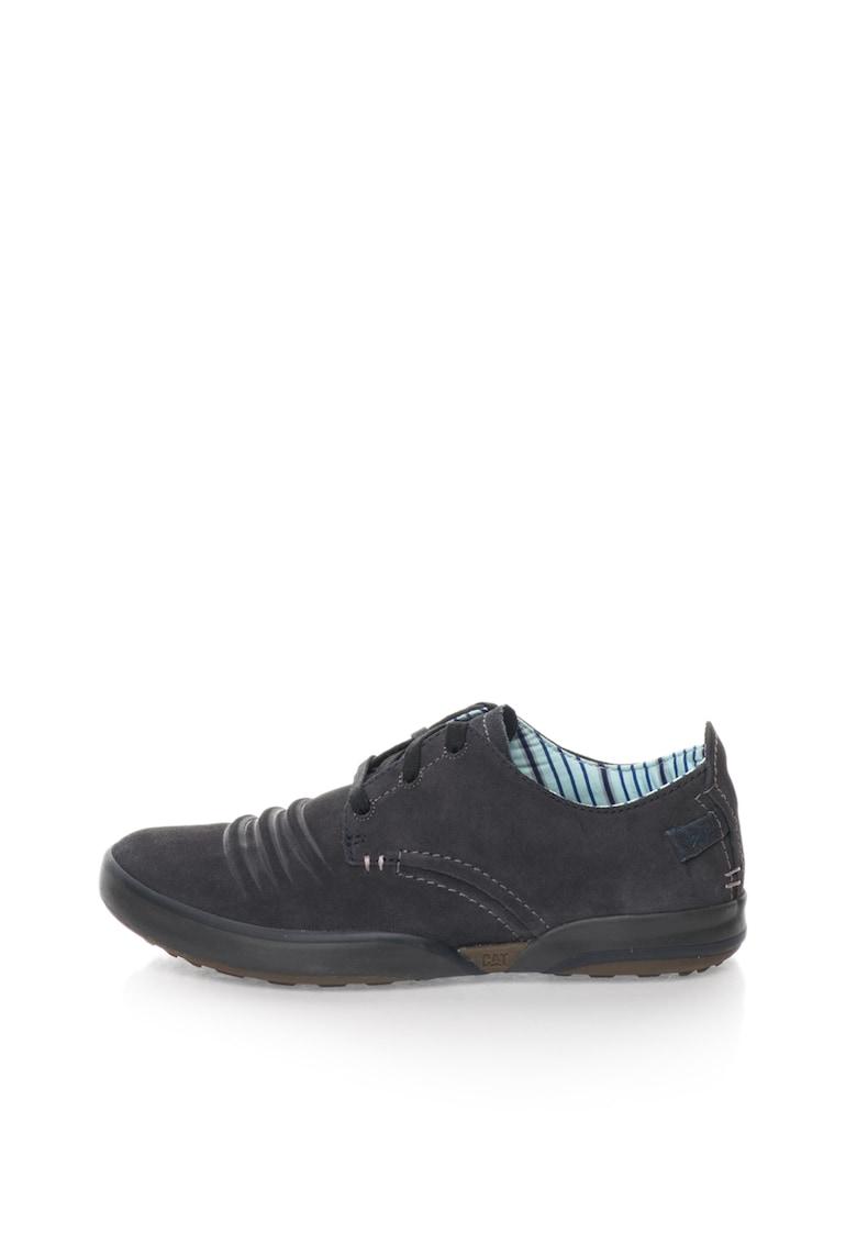 Pantofi bleumarin de piele intoarsa Status imagine fashiondays.ro CAT