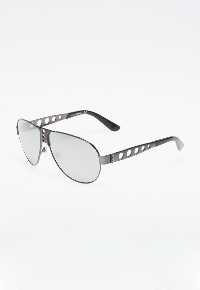 Ochelari de soare gri hematit cu negru poza fashiondays