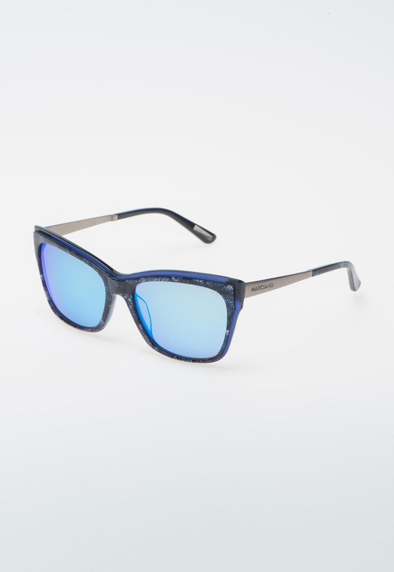 Ochelari de soare albastri cu model dantelat