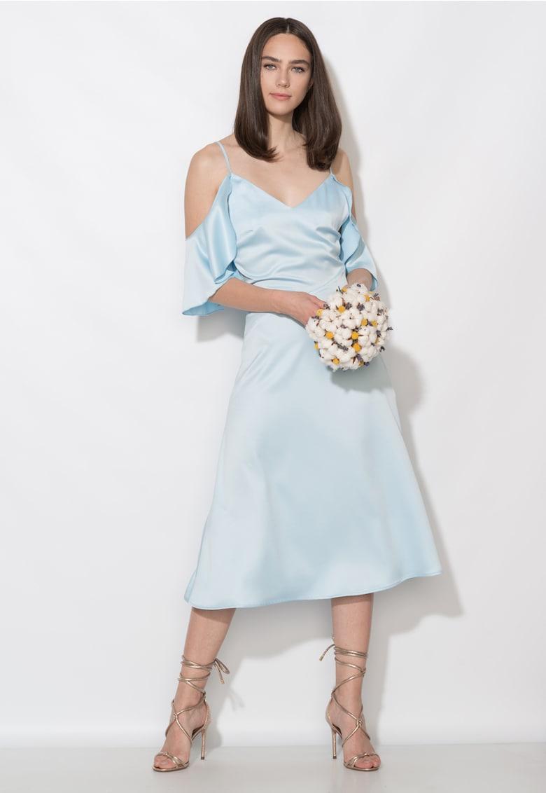 Zee Lane Collection Rochie bleu cu decolteu pe umeri