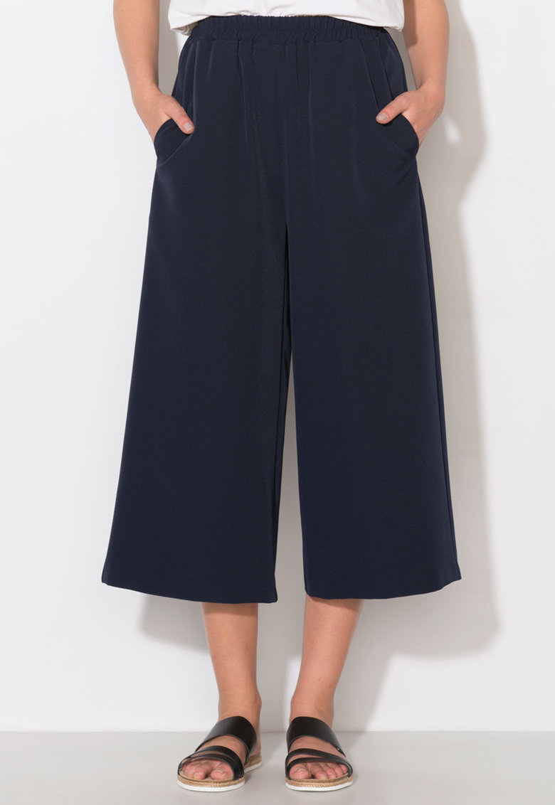 Zee Lane Collection Pantaloni culotte bleumarin
