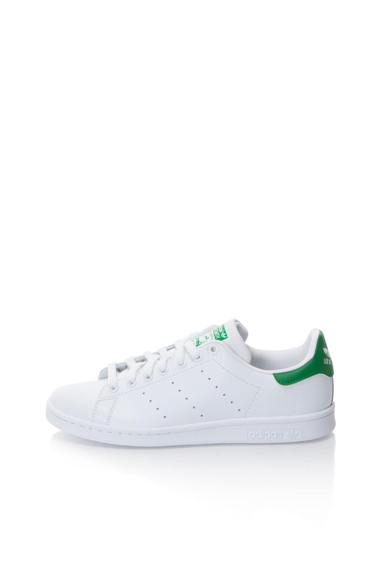Adidas ORIGINALS Tenisi albi cu detalii verzi Stan Smith