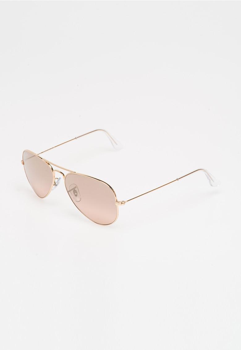 Ochelari de soare aurii Aviator poza fashiondays