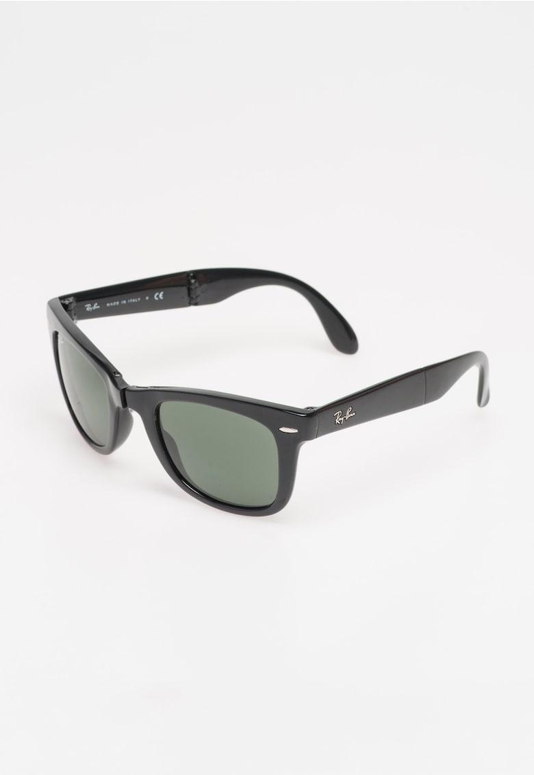 Ochelari de soare negri pliabili Wayfarer