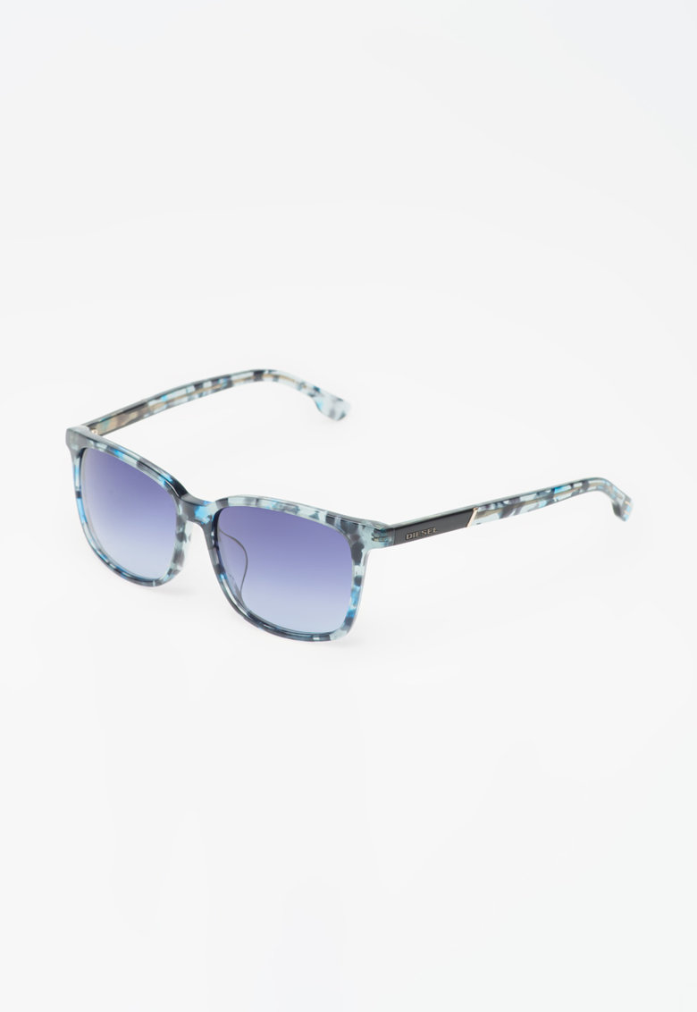 Ochelari de soare albastru transparent imagine fashiondays.ro Diesel
