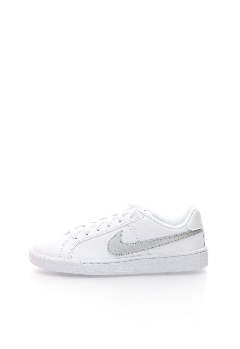 Pantofi sport cu sireturi si logo Court Royale imagine