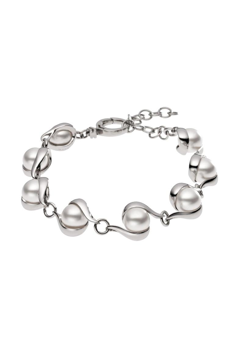 Bratara argintie cu perle imagine
