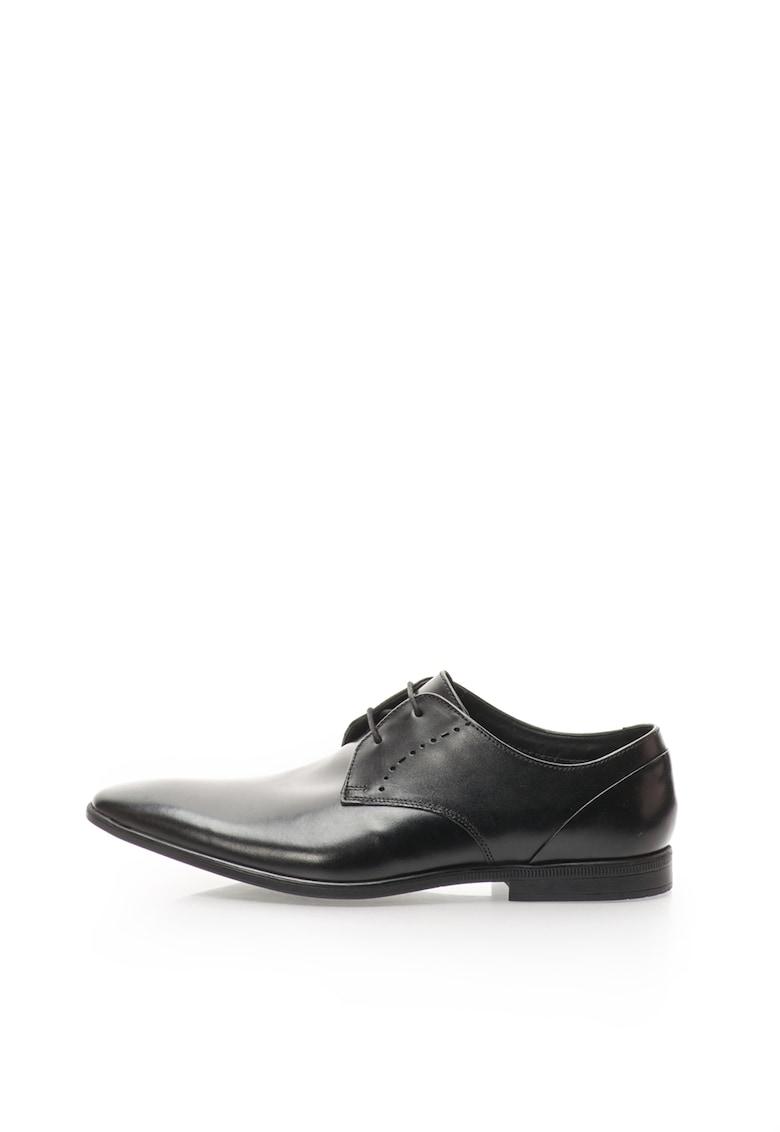 Pantofi negri de piele Bampton