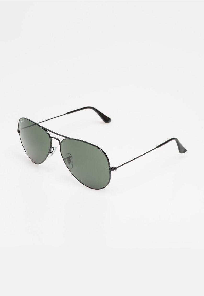 Ochelari de soare negri Aviator RB3026-L2821 imagine fashiondays.ro 2021