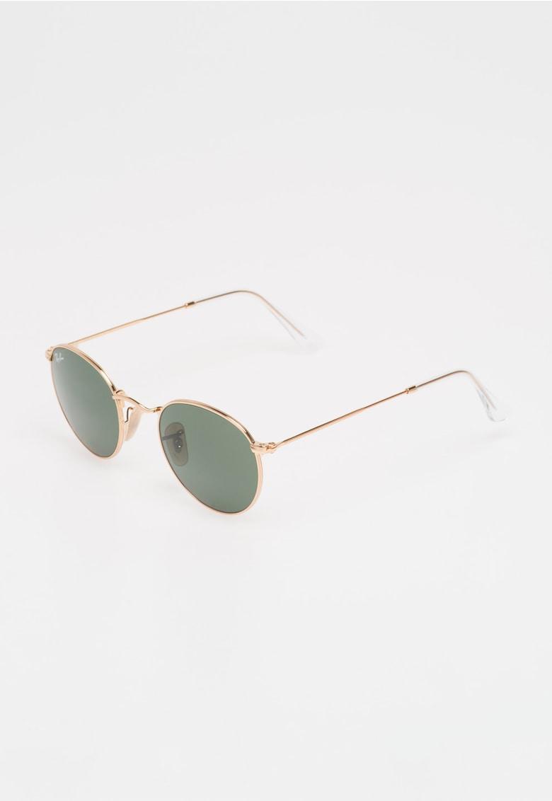 Ochelari de soare aurii rotunzi imagine fashiondays.ro Ray-Ban
