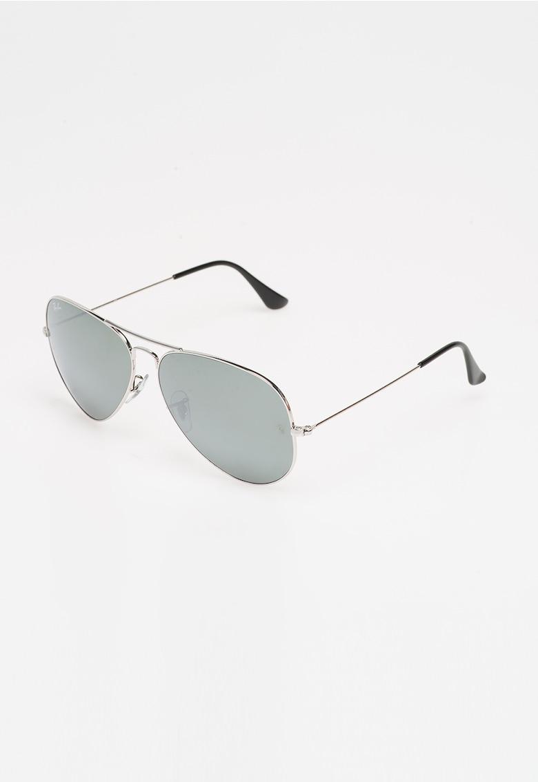 Ochelari de soare argintii Aviator imagine fashiondays.ro Ray-Ban