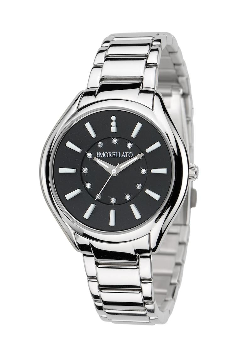 Ceas negru si argintiu cu cristale Panarea imagine fashiondays.ro 2021