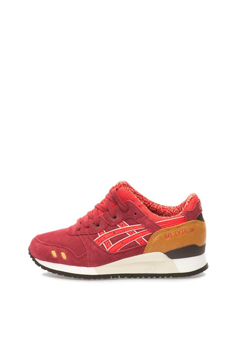 Pantofi sport rosu Bordeaux Gel Lyte III