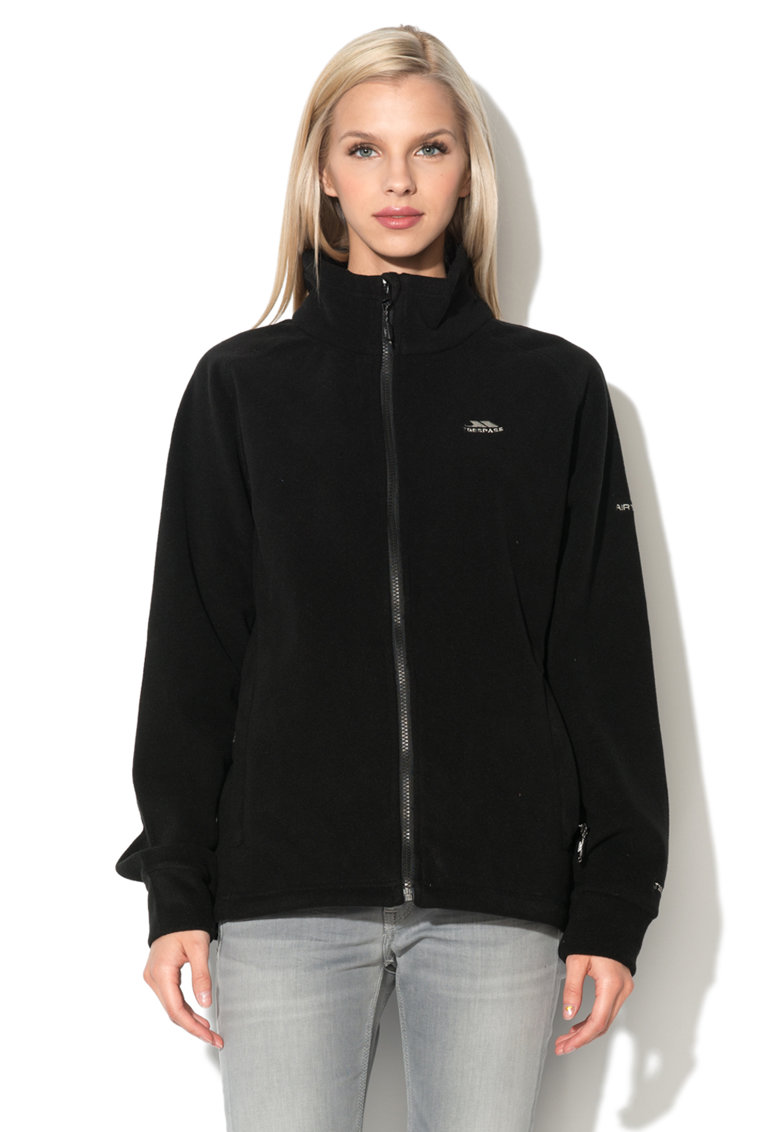 Bluza sport neagra din fleece Clarice