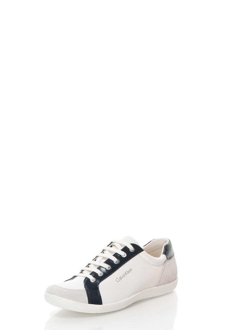 Pantofi casual cu garnituri din piele si piele intoarsa Paco imagine fashiondays.ro 2021